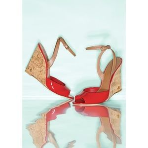 NEW IN BOX Tory Burch Ashton Red Leather Sandal